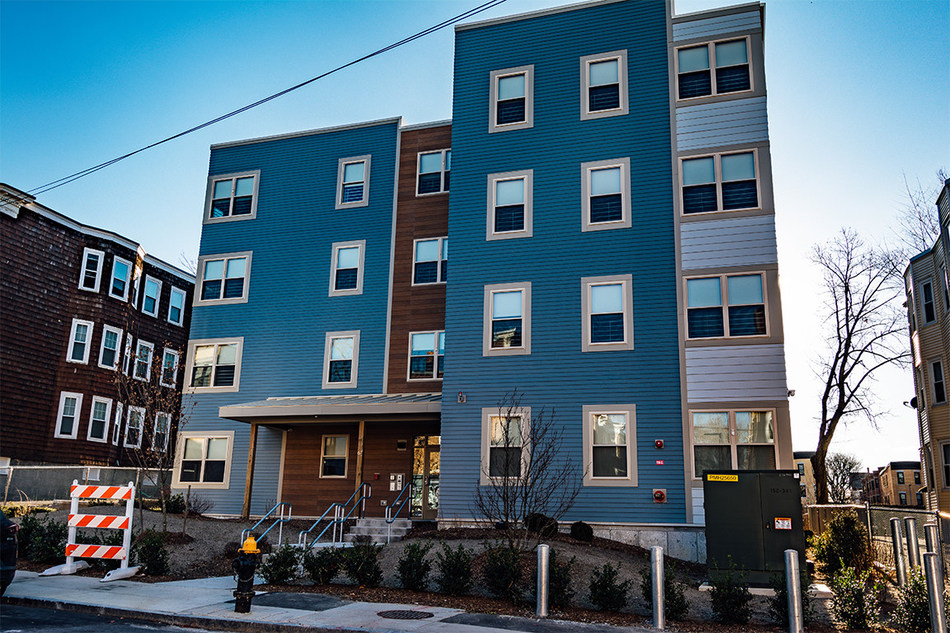 NEI General Contracting, an award-winning general contractor and construction management firm, announced today the completion of Walker Park Apartments in the Egleston Square neighborhood of Boston for Urban Edge, a national leader in the community development field. Photo copyright Michael Indrisano.