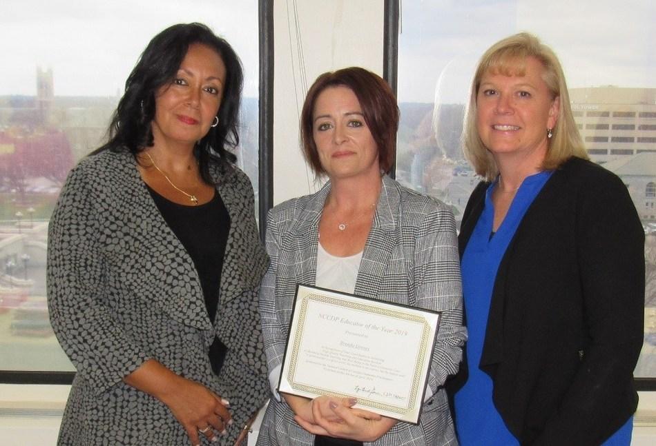 From left:  Lynn Biot-Gordon, Chief Operating Officer, NCCDP; Brenda Groves, 2019 CADDCT Educator of the Year; and Rhonda Brand, President, NCCDP.