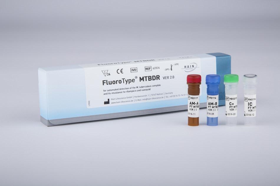 Figure 2: Fluorotype MTBDR 2.0 Kit for advanced Tb diagnostics
