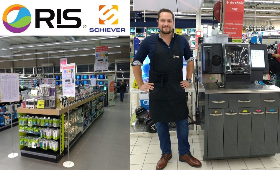 RIS associate pictured with the INKCENTER® at Schiever Sens