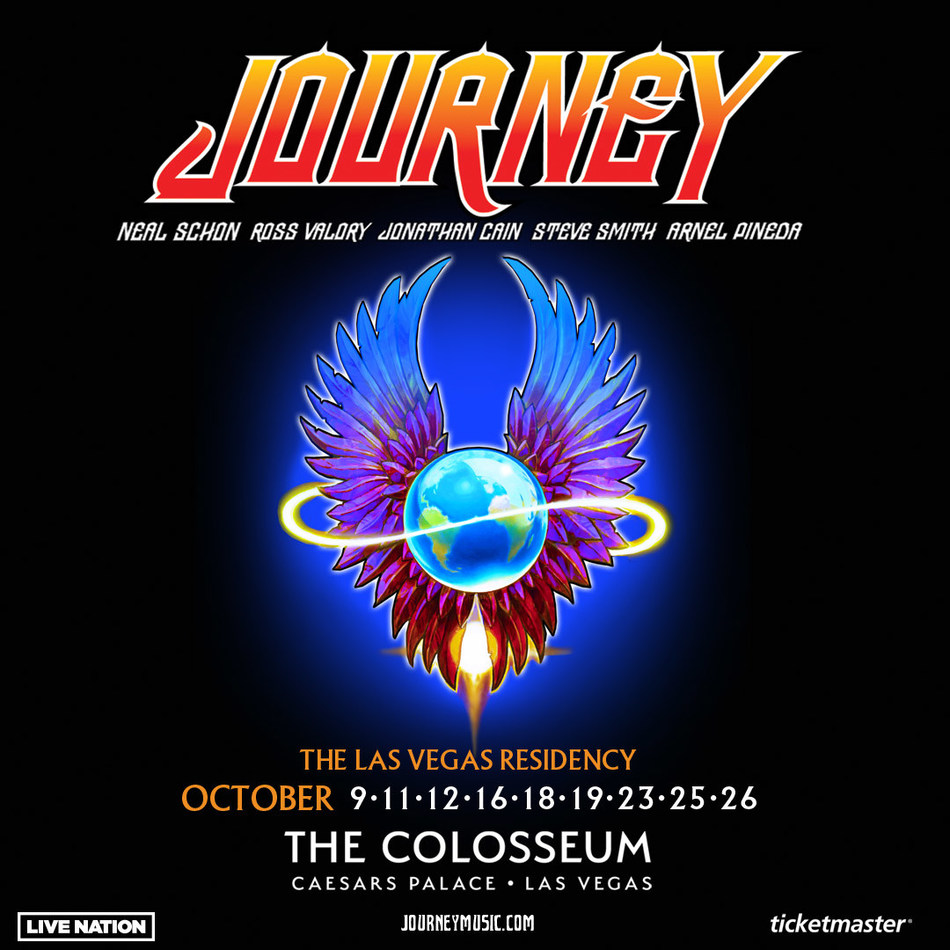JOURNEY THE LAS VEGAS RESIDENCY COMING TO THE COLOSSEUM AT CAESARS PALACE OCTOBER 9 – 26, 2019