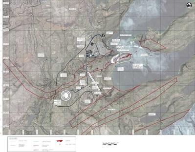 Figure 2 – Site Layout (CNW Group/Fission Uranium Corp.)