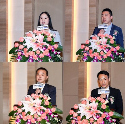 Left-to-Right: Athena Gong, Managing Director, Informa GE China; Jack Wei, General Manager, Informa GE BJ; Jiang Hui, Vice President of CCCMC; Xianjin He, Director of MONALISA GROUP CO., LTD.