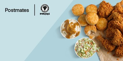 Postmates and POPEYES® announced today that they've partnered to bring their delicious fried chicken direct to your door. With more than 2,000 POPEYES locations in the US, customers across the country can have their favorite Cajun dishes delivered.