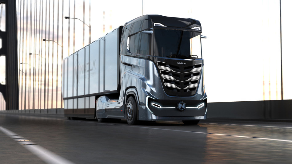 The hydrogen-electric Nikola TRE (means three in Norwegian) has 500 to 1,000 HP, 6x4 or 6x2 configurations and a range of 500 to 1,200 kilometers depending on options. The TRE will fit within the current size and length restrictions for Europe.