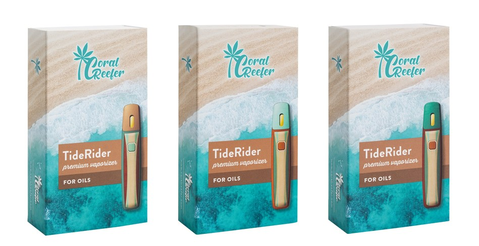 The TideRider is our uniquely designed rechargeable vaporizer device, necessary to keep that summer sun shining all year long. The TideRider is compatible with the full line of Coral Reefer vaporizer pods, and available in three colors: Teal green, light wood tone, and dark wood tone.