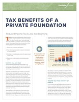For more information about the tax benefits of creating a private foundation, view this Foundation Source article.