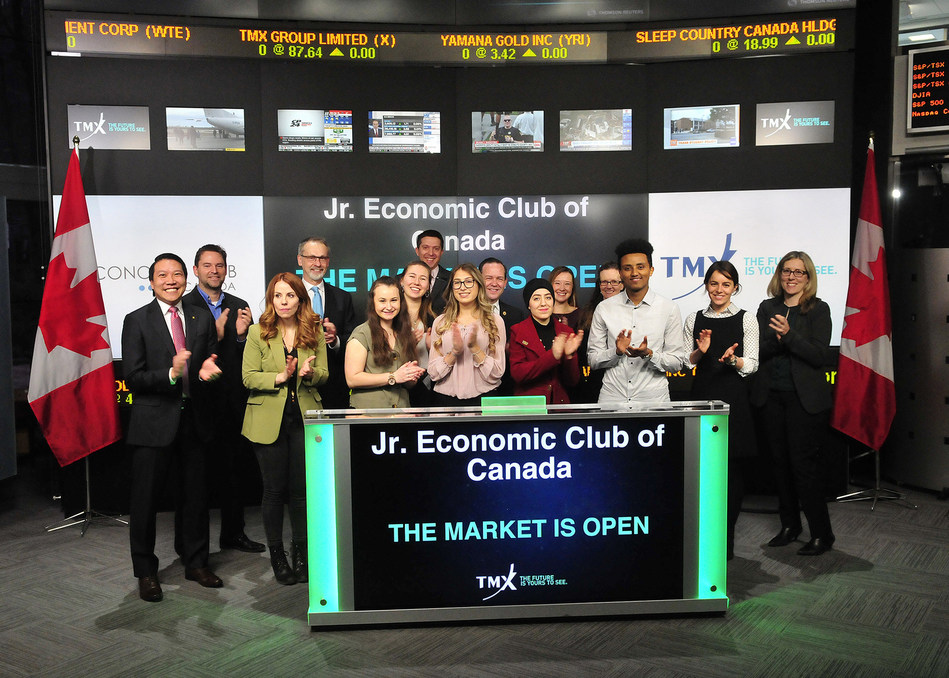 Jr. Economic Club of Canada Opens the Market (CNW Group/TMX Group Limited)