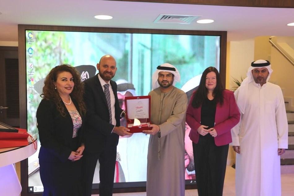 HE Brigadier Jamal Salem Ali Al-Jalaf, Director General of Criminal Investigation Department with Danfoss team