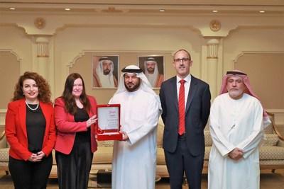 HE Sultan Abdullah Bin Hadh Al Swaidi, The President of Sharjah Economic Development Department with Danfoss Team