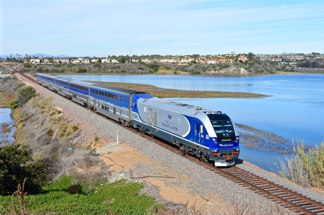 Cleaner Diesel-Electric Locomotives Now in Service on Amtrak Pacific Surfliner Trains