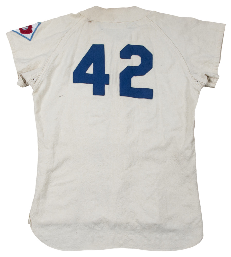 Jackie Robinson's 1951 Dodgers home jersey is up for auction through May 11 at GoldinAuctions.com