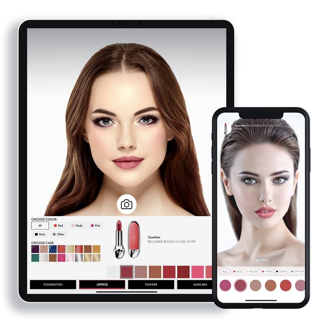 Virtual try-on of makeup products