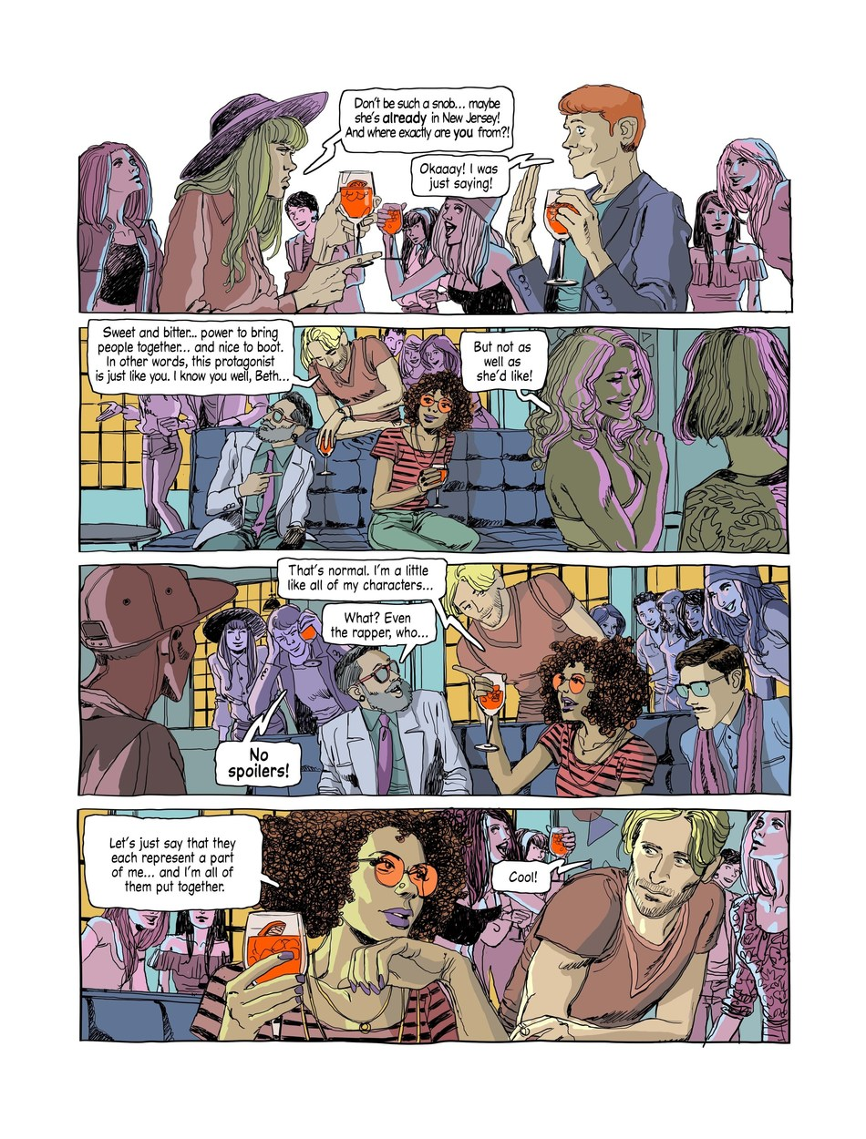 Exclusive excerpt from 'Orange Chronicles', Sergio Gerasi and Tito Faraci's collaborative graphic novel exclusively launching in celebration of 100 years of joyful connections with Aperol (PRNewsfoto/Aperol)