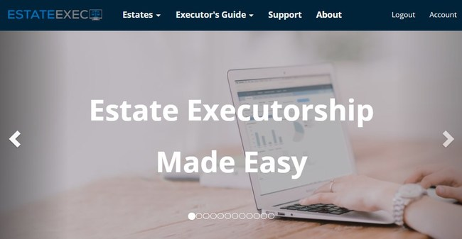 EstateExec provides automated guidance and automated financials for estate executors