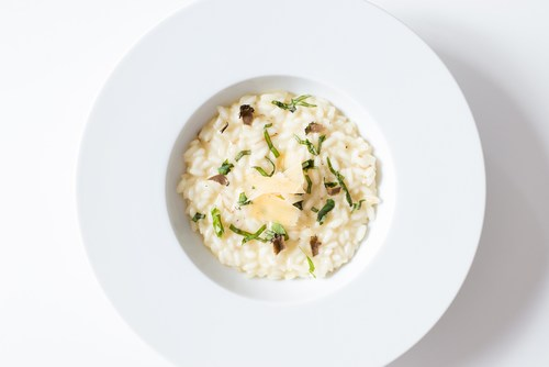 All organic, 100% Italian ingredients, 15 minutes porcini mushroom risotto from The Fine Market available online in their Ready-Made section