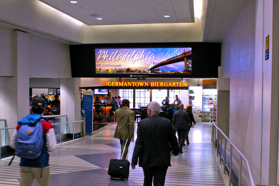 New advertising solutions at Philadelphia Intl. Airport include state-of-the-art, large-format LED video walls, among many other sponsorship opportunities.