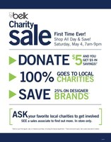Belk Invites Customers to Shop, Save and Give Back at Annual Spring Charity Sale