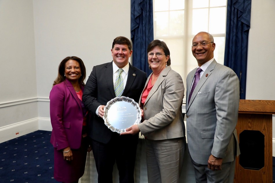 LEFT to RIGHT: NAHRO CEO Adrianne Todman, Congressman Steven Palazzo (R-MS), Judy Mellard of Mississippi Association of Housing and Redevelopment Officials (MAHRO), NAHRO President Carl Richie, Jr. (PRNewsfoto/National Association of Housing)