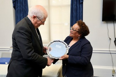 LEFT to RIGHT: Congressman David Price (D-NC); Tina Akers Brown, Greensboro Housing Authority (PRNewsfoto/National Association of Housing)