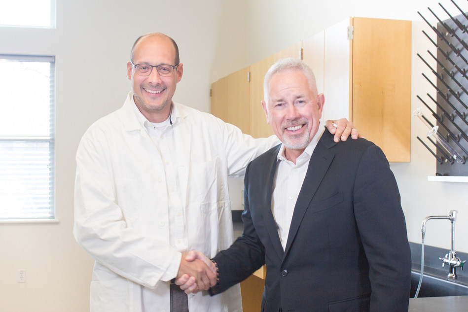 Jesse Lopez (right), CEO, and Marc Weder, CSO, have launched more than 50 VESIsorb® formulations since 2005.