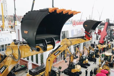 SANY machines displayed at Bauma 2019