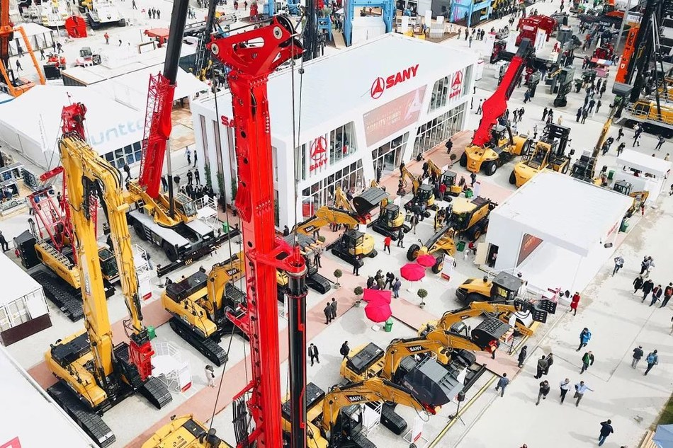 SANY machines exhibited at bauma 2019