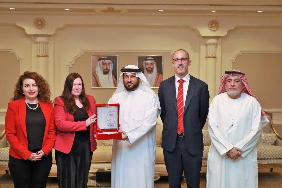 HE Sultan Abdullah Bin Hadh Al Swaidi, The President of Sharjah Economic Development Department with Danfoss Team