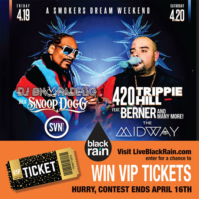 LiveBlackRain.com supporting amazing artists at their 420 celebration events with VIP concert and after-party tickets.