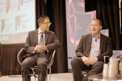 Eugene Wen (L), Patrick McCleary (R) at Big Data Toronto 2019 (CNW Group/Corp Agency)