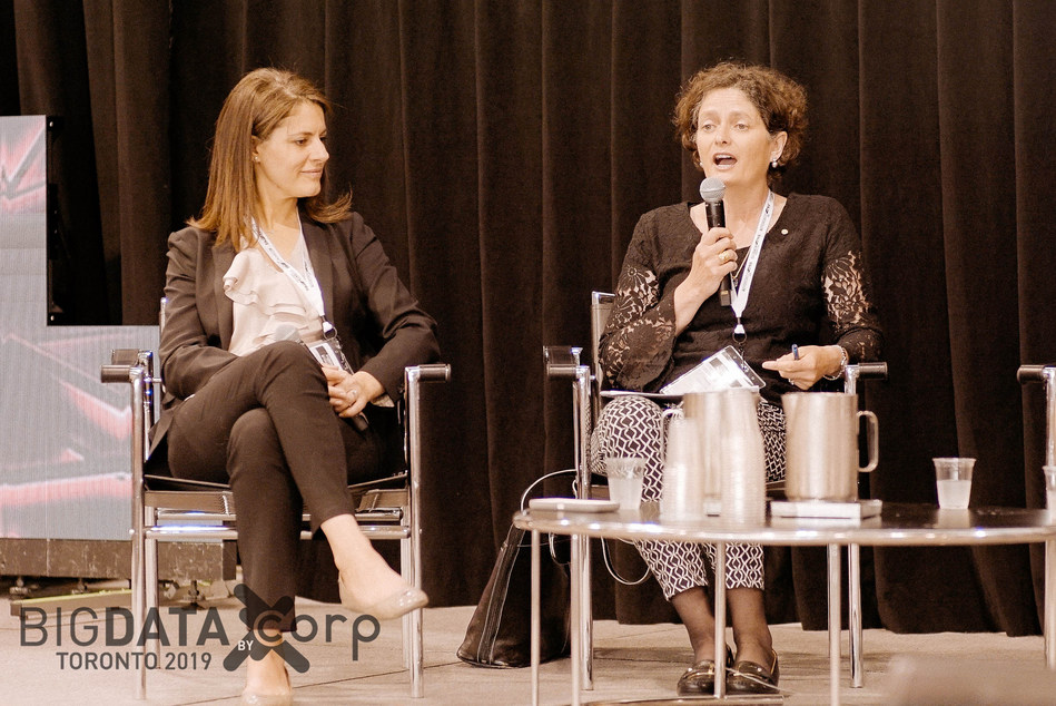 Carole Piovesan (L), Suzanne Morin (R) at Big Data Toronto 2018 (CNW Group/Corp Agency)
