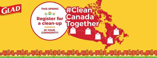 Join GLAD to help #CleanCanadaTogether by registering for a cleanup in your community this Spring (CNW Group/GLAD Canada)