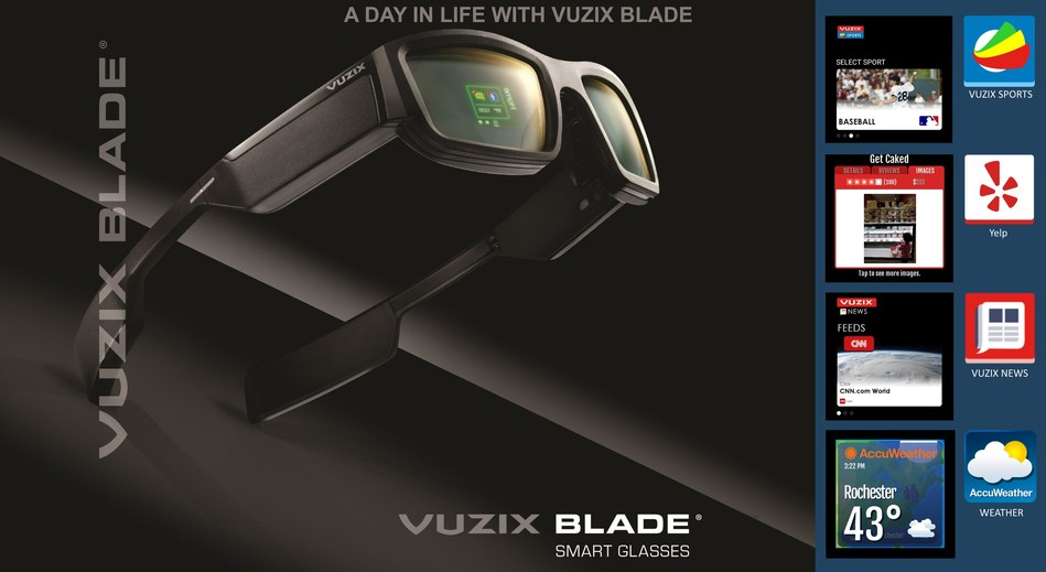 Vuzix New Blade Apps for Yelp, AccuWeather, News, and Sports