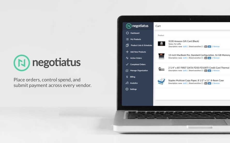 Negotiatus: empowering businesses to make better and faster purchasing decisions by automating purchasing across vendors.
