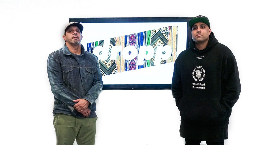 Coogi creative director Willie Esco and Dropp Founder Gurps Rai
