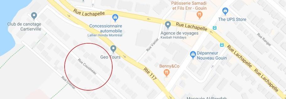 Bout de la rue Cousineau (près du club de canotage), Arrondissement Ahuntsic-Cartierville, Montréal (Québec) (Groupe CNW/Ville de Montréal - Cabinet de la mairesse et du comité exécutif)