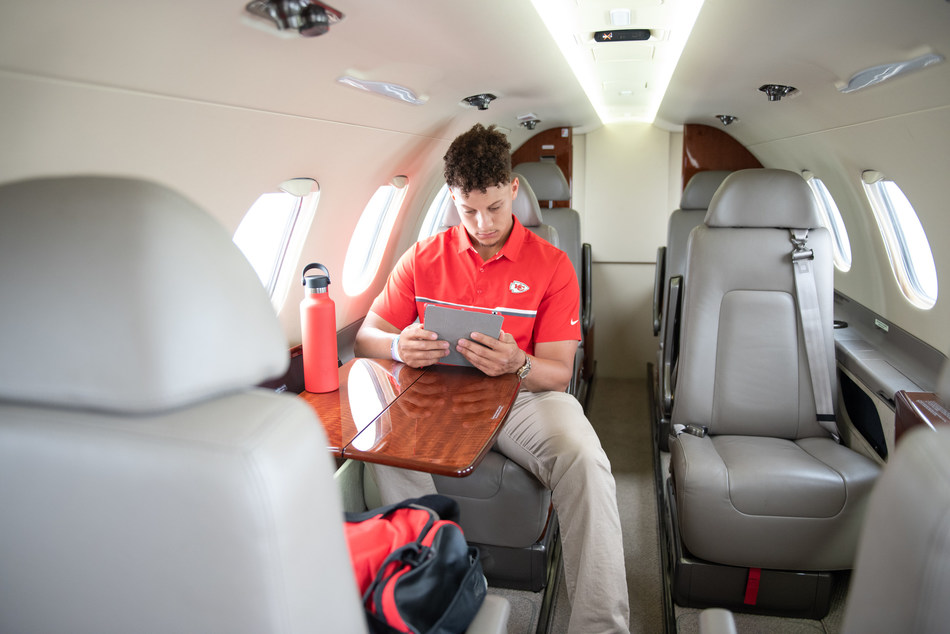 Patrick Mahomes II considers his partnership with Airshare vital in maintaining his level of productivity coming off a record-setting year.