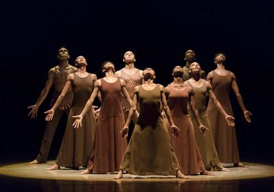 "Alvin Ailey American Dance Theater in Alvin Ailey's ""Revelations."" Photo by Paul Kolnik."