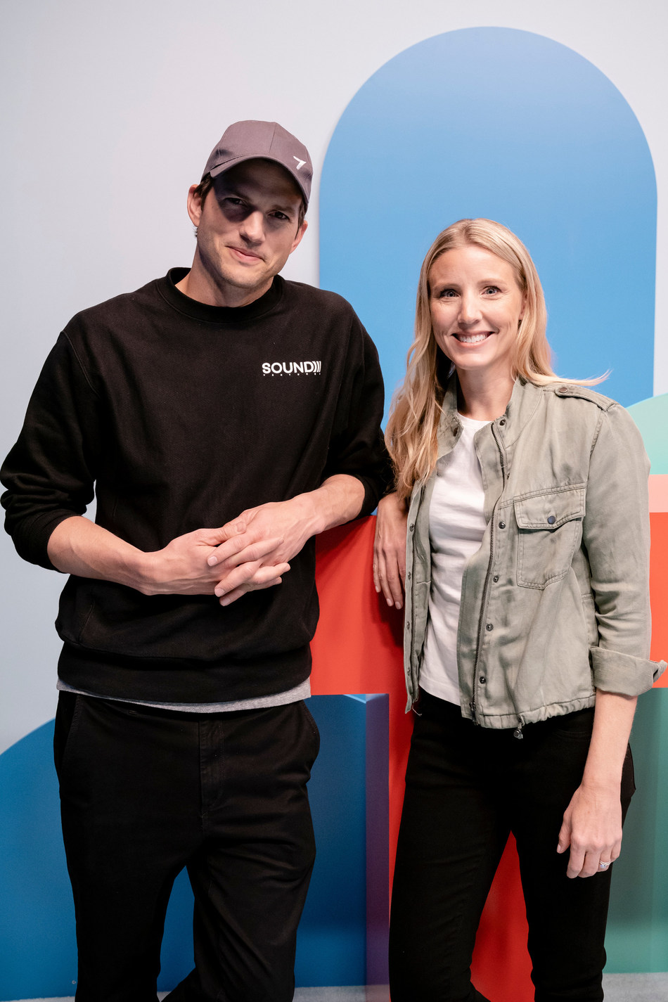 Ashton Kutcher, Co-Founder, Thorn and Julie Cordua, CEO, Thorn - at TED 4.16.19 Photo credit: Bret Hartman / TED