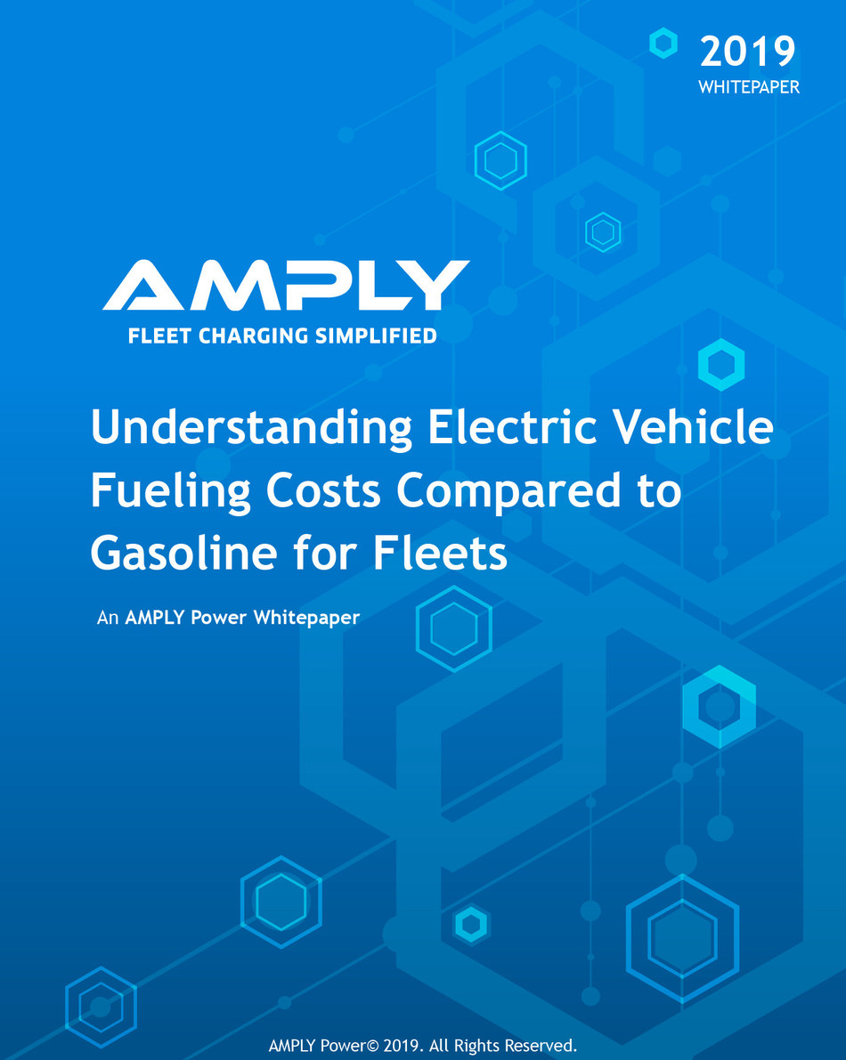 White paper uses new Dollar Per Gallon-equivalent rating (DPGe) to directly compare electric and traditional fleet vehicle fueling costs