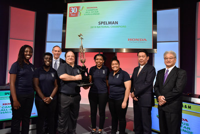 Honda executives congratulate Spelman College for winning the 30th annual Honda Campus All-Star Challenge (HCASC), the school's first-ever HCASC championship.