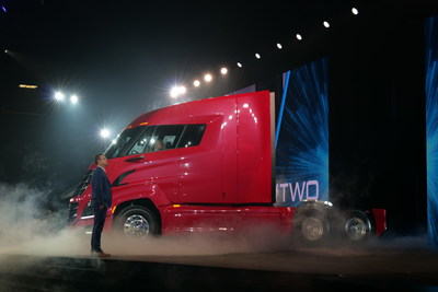 Nikola CEO and Founder Trevor Milton introduced the Nikola World 2019 audience to the Nikola Two.