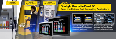 Avalue Technology ARC sunlight readable panel PC series targeting outdoor and demanding applications