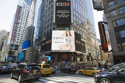 ZAFUL showcased on Reuters Billboard in Time Square in NYC