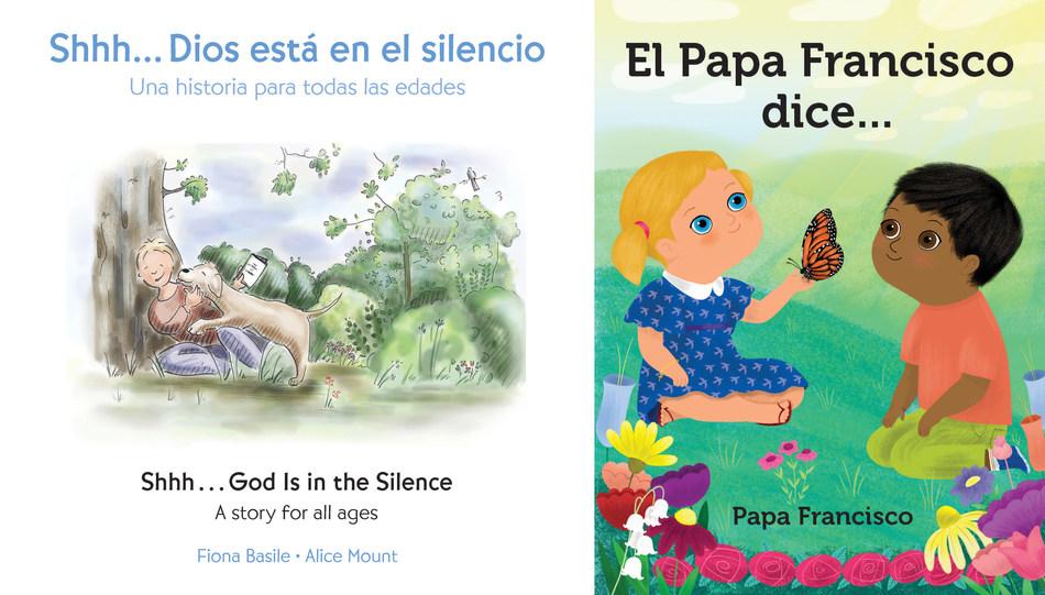 Shhh…Dios está en el silencio, es en inglés y español. El Papa Francisco dice… es en español.