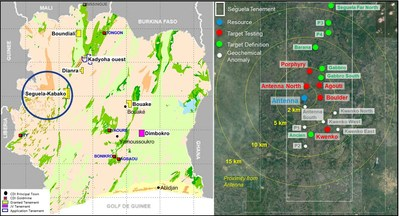 Figure 1: Drilling Location (CNW Group/Roxgold Inc.)
