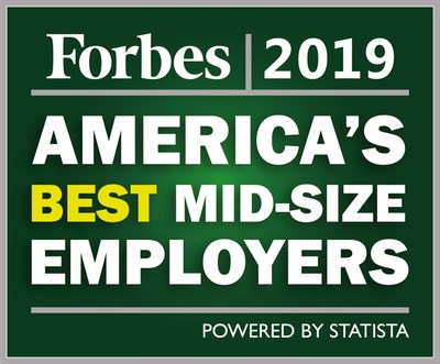 Forbes names BioMarin 4th in its 2019 list of America's Best Mid-Size Employers.