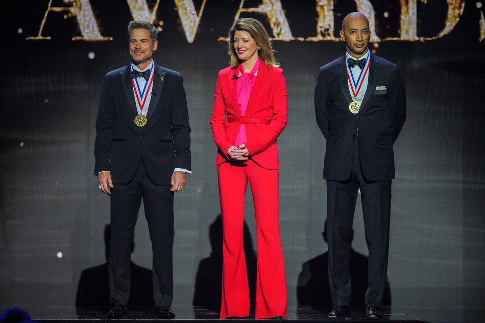 Rob Lowe, Norah O'Donnell and Byron Pitts co-host the 72nd Annual Horatio Alger Awards Induction Ceremony