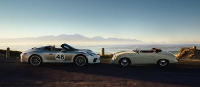 Retour aux sources: Dévoilement au Salon international de l'auto de New York de la Porsche 911 Speedster 2019 dotée de l'ensemble optionnel Heritage Design le 17 avril 2019. (Groupe CNW/Automobiles Porsche Canada)