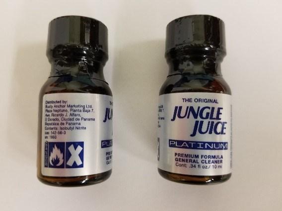 The Original Jungle Juice Platinum - Poppers (Groupe CNW/Santé Canada)